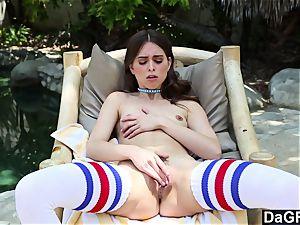 Dagfs stellar Riley Reid toying With Her