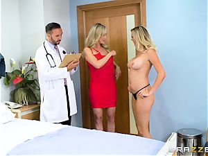 Brandi enjoy and Brett Rossi get down to biz with the physician