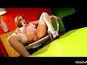 marvelous brunette Natasha receives a vag poking