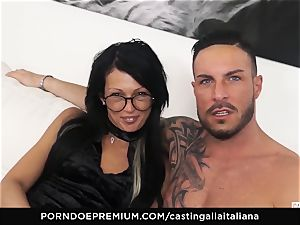 audition ALLA ITALIANA - kinky bang-out with local amateur