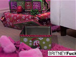 Britney finds a Christmas bounty