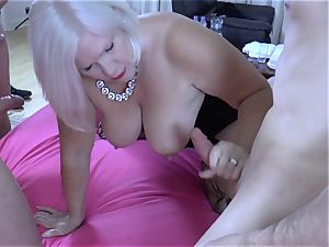LACEYSTARR - hungry granny gang-fucked