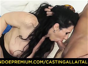 audition ALLA ITALIANA dark haired nympho raunchy rectal hump
