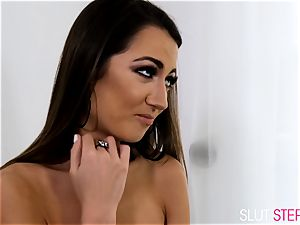 Lily Adams smashes her stepbrother in mind-blowing stockings