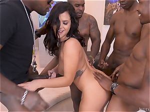Keisha Grey Scouts For An interracial group drill