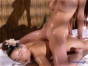 massage apartments Amirah Adara and Nathaly Cherie sexy massage