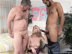 Cadence Lux Makes snatch husband gobbles studs spunk