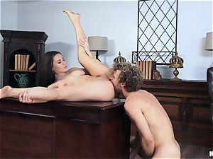 Lana Rhoades getting frisky in the office