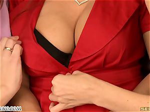 Julia Ann - hefty fat bumpers mummy threesome