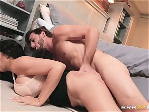 youthfull guy tears up his bride's uber-sexy mother Reagan Foxx before the wedding