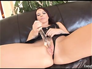 Dana gets her rump wedged with a giant dark-hued stiffys