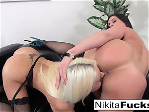 Nikita Von James and Kendra zeal gobble each other