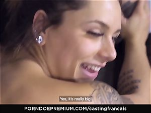 casting FRANCAIS - jaw-dropping amateur first porno penetrate
