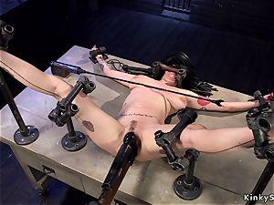 Alt buxomy slave in device restrain bondage anal invasion