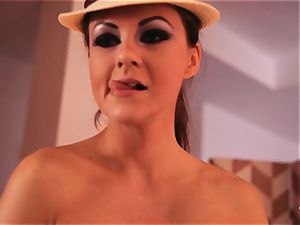 hardcore SHADES - magnificent brit honey Tina Kay paints with cum