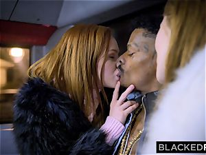 BLACKEDRAW 2 lovelies plow big big black cock On Bus!