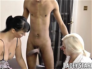 LACEYSTARR - Mature doc drilled by bi-racial couple