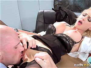 fabulous office stunner Alix Lynx takes a second helping