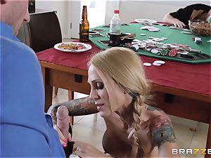 Sarah Jessie ravaging her husbands poker acquaintance