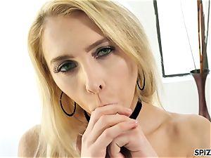 Spizoo - watch nubile Alix Lyn deep-throating a yam-sized hard-on
