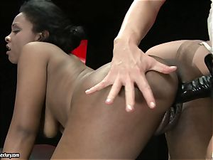 super-fucking-hot Kathia Nobili loves drilling her accomplices cunny firm from behind