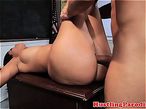 Isis Taylor smashes on bad masters desk