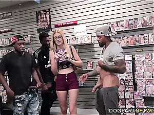 Alexa mercy deep-throats BBC's at adult bookstore