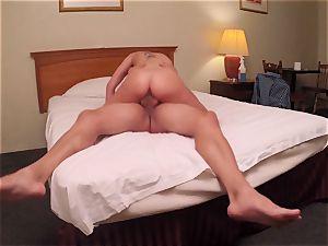 Brianna chocolate-colored caught on spy web cam as she fucks