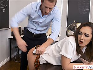 ultra-kinky hung instructor Ryan penetrates lil' Lily Jordan