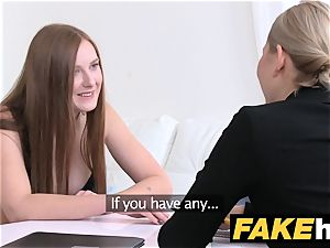girl Agent steaming sandy-haired makes blonde beautiful jism