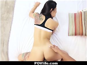 marvelous Latina Gina Valentina pov drilling