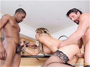 Capri Cavanni nails her man and his mate
