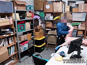 Caught tugging under college desk and boy pummels real cop hard-core Grand Theft - LP team