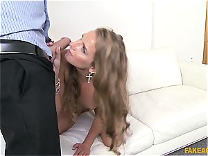 Russian beauty Sofi Goldfinger pounded by the audition agent