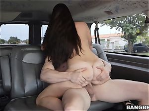 Karlee Grey picked up and tucked on the Bangbus