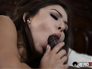 adult movie star honeys big black cock plumbed in three-way