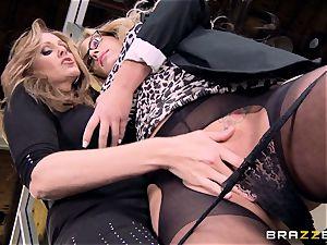 boss Julia ann smashes her splendid assistant Olivia Austin