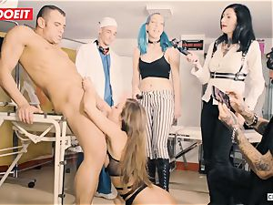 LETSDOEIT - Amirah Is manhandled at her first-ever domination & submission party