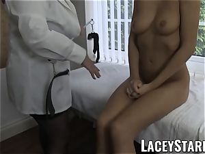 LACEYSTARR - mind-blowing fuckbox inspected by medic GILF