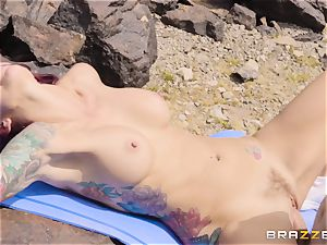 Desert yoga nail with beef whistle craving Monique Alexander