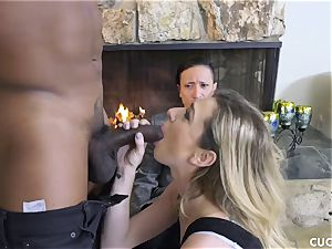 black boy romps his chief trampy wife Dahlia Sky