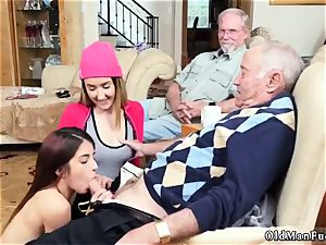 elderly ambidextrous duo and dude vs young assfuck Maximas Errectis