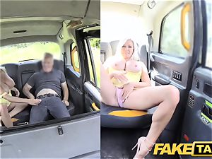 faux taxi ample tits blond Michelle Thorne