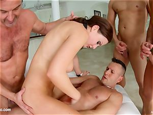 messy internal ejaculation - Tina Kay group sex Part two by All Inter