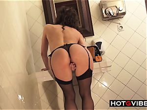 Public shower squirting