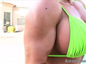 supah jaw-dropping fit blondes touching their wet honeypot for you