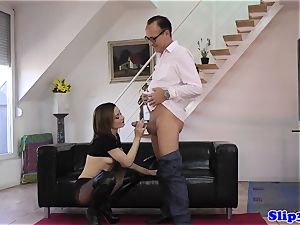 fancy bombshell pussyfucked by super-naughty aged fellow