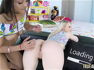 TRUE assfuck assfuck tag team with Lilly Hall and Lily Rader