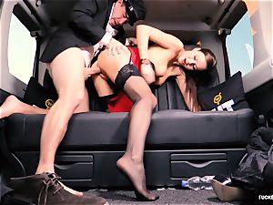plumbed IN TRAFFIC - british Tina Kay banged in the car