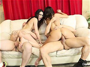 4some wiith Dava Foxx, Ava Addams,